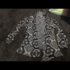 Native style long sleeve cardigan